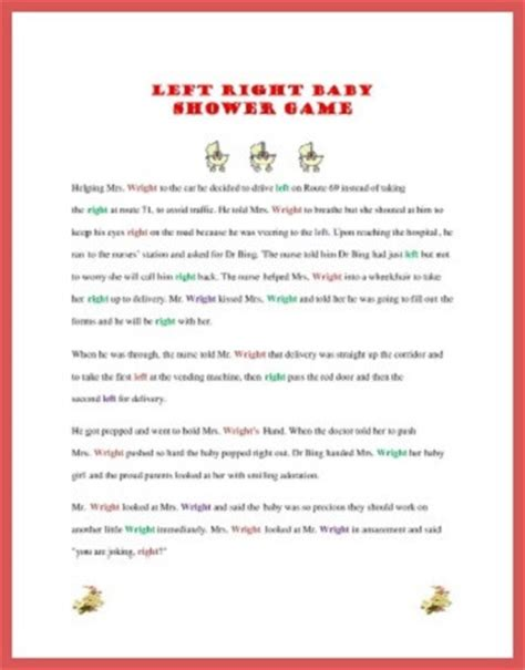 The Left Right Baby Shower by Play Right Left Baby Shower Baby Shower Ideas