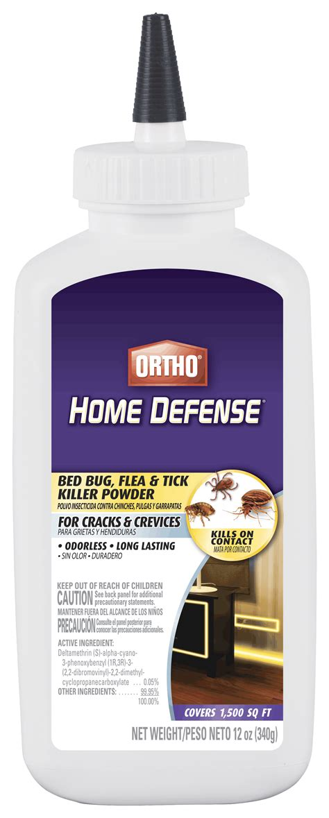 ortho 174 home defense bed bug flea tick killer powder ortho
