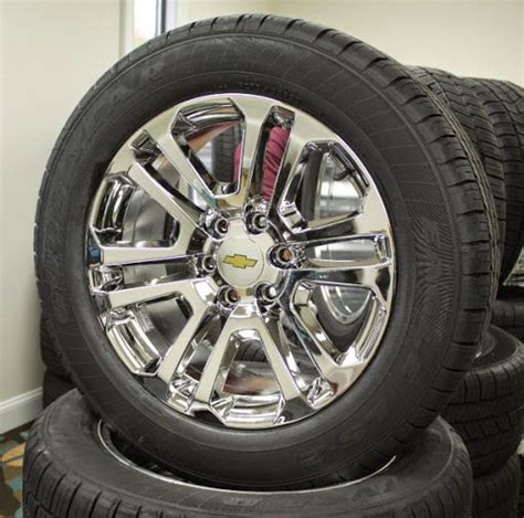 Truck Wheels Tires Packages 4x4 Set 4 New 20 Quot Chevrolet Silverado Suburban Tahoe Pvd
