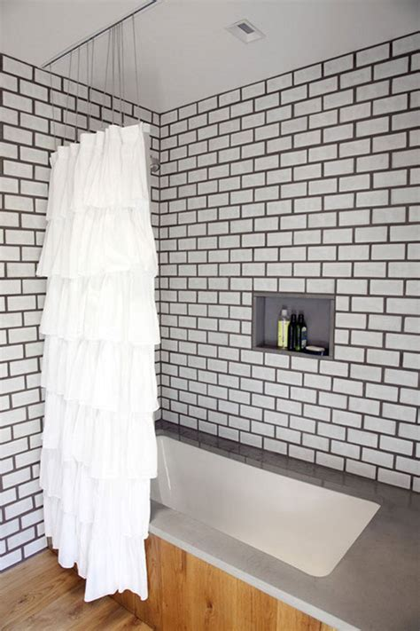 Grout Bathroom by Bathroom White Tile Grey Grout With Concrete