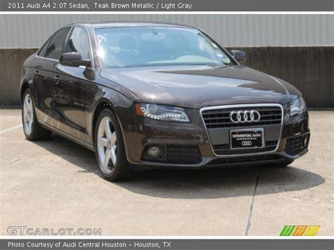 audi a4 brown interior teak brown metallic 2011 audi a4 2 0t sedan light gray