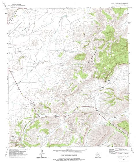 fort davis texas map fort davis se topographic map tx usgs topo 30103e7