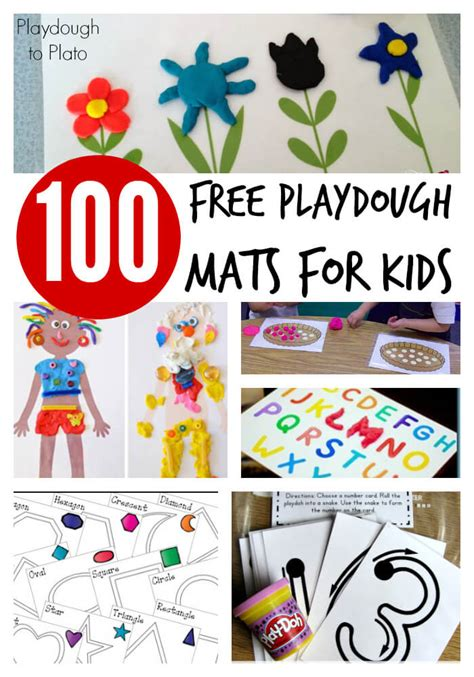 Play Doh Play Mat by 100 Free Playdough Mats Playdough To Plato