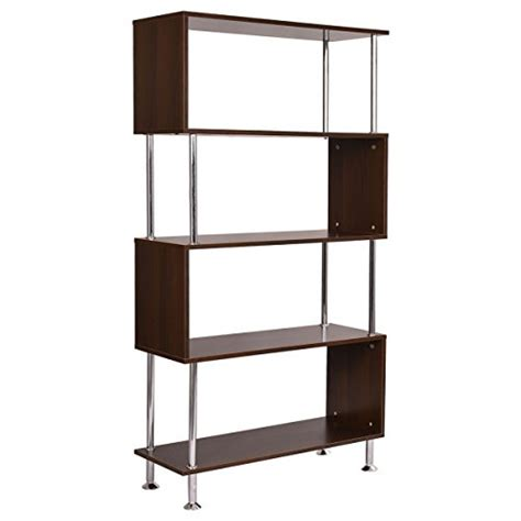 Barnes Furniture by Tangkula Barnes Modern Bookcase Wooden Bookshelf Storage Display Unit Furniture 4 Tier