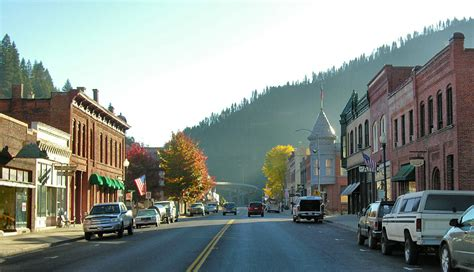 best town squares in america wallace id downtown wallace early in the day photo picture image idaho at city data