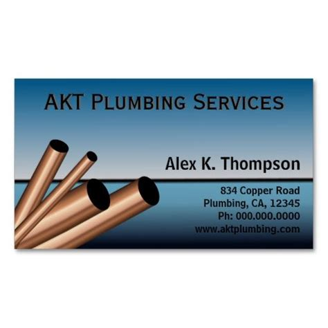 Plumbing Business Cards by Plumber Plumbing Business Card Template