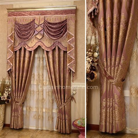 victorian curtain advanced jacquard floral pattern victorian blackout