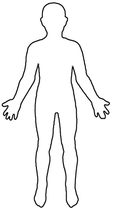 Human Body Outline For Kids Fun Preschool Ideas My Classroom Pinterest Human Body Human Template