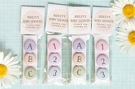 ABC & 123 Magnet Baby Shower Favors   Party Inspiration