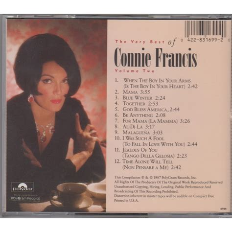 the best of connie francis the best of connie francis volume 2 polydor usa 1987