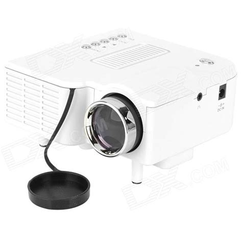 Proyektor Uc28 uc28 mini portable led projector w vga av in usb sd white free shipping dealextreme
