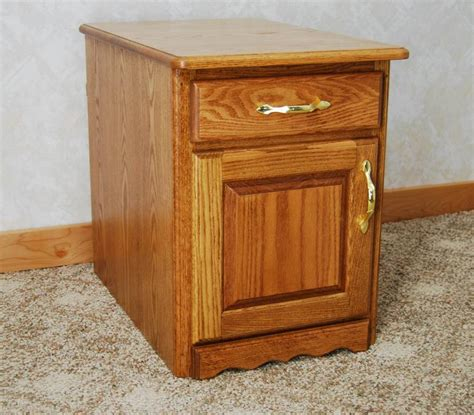 nightstand with cabinet door nightstand with door and drawer de vries woodcrafters