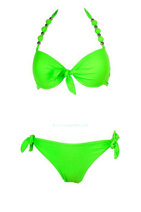 maillots de bains maillot de bain balconnet push up ensembles femmes fluo pas cher