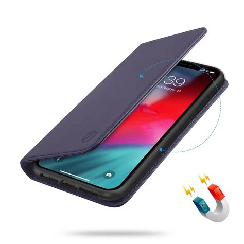 shieldon iphone xs max wallet case iphone  max folio