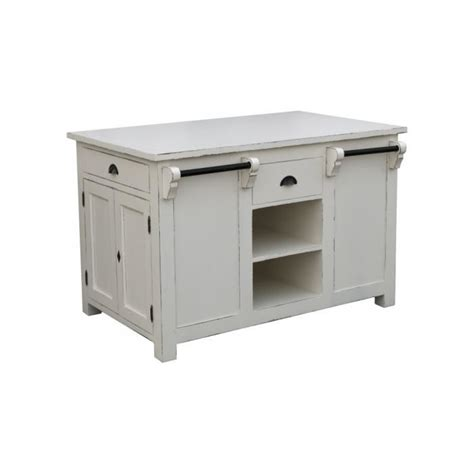 Meuble Ilot Central by Meuble De Cuisine 238 Lot Central Pin Massif Gris Patin 233