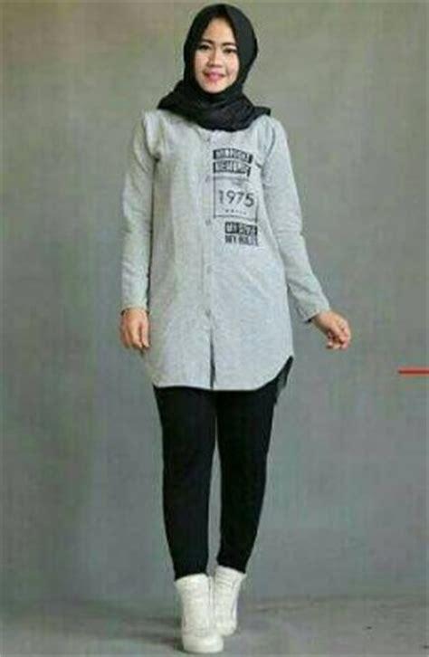 Kemeja Summer 17 baju kemeja wanita bahan katun polos dan kotak koleksi terbaik model baju busana muslim terbaru