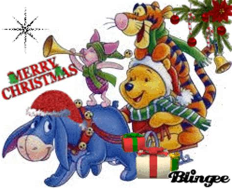 winnie  pooh merry christmas picture  blingeecom