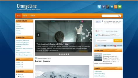 orangeline blogger template btemplates