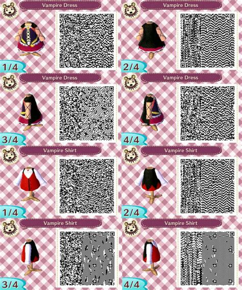 animal crossing new leaf qr code hairstyle acnl vire outfit qr codes by acnl qr codez on deviantart