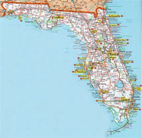 printable florida road map 17 images about vacation on pinterest alabama indiana