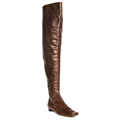 marni brown thigh high boots for sale at 1stdibs