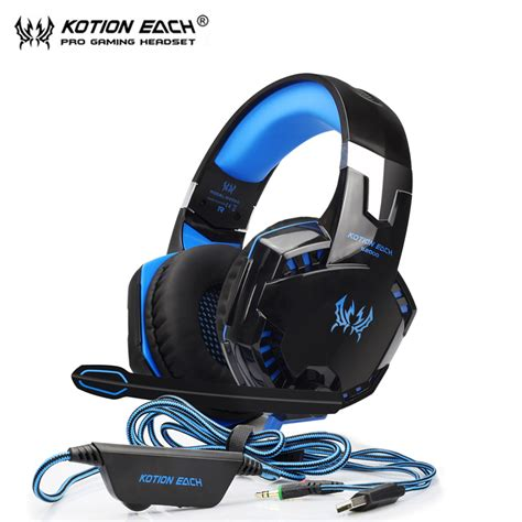 G2000 Gaming Headphone With Mic Kotion Each G2000 Gaming Headset Gamer Luminous Headphone