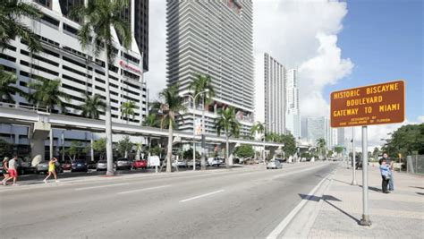 imagenes miami hd miami fl tilt shift traffic time lapse stock footage video