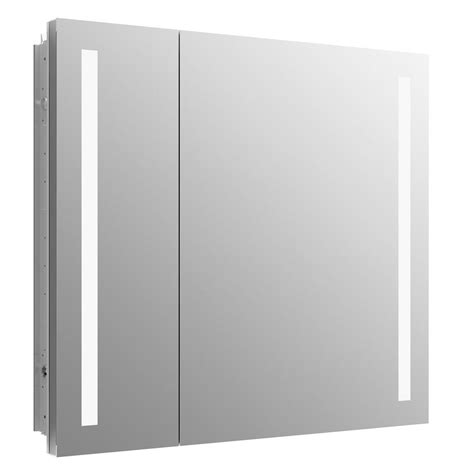 surface mount medicine cabinet with lights kohler verdera 34 in x 30 in recessed or surface mount lighted medicine cabinet 99009 tl na