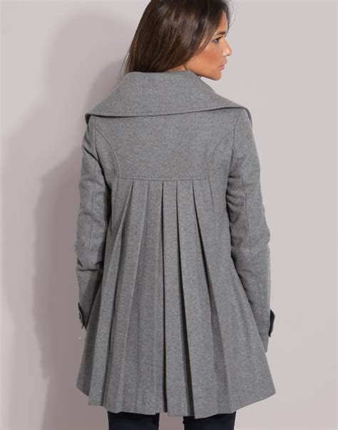 swing coat swing coat free pleated swing coat in blue