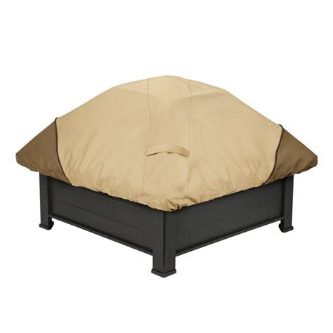 Square Firepit Cover Classic Accessories Veranda Square Pit Cover 71942 The Home Depot