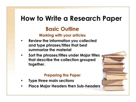 How To Make Research Paper Presentation - ppt how to write a research paper powerpoint