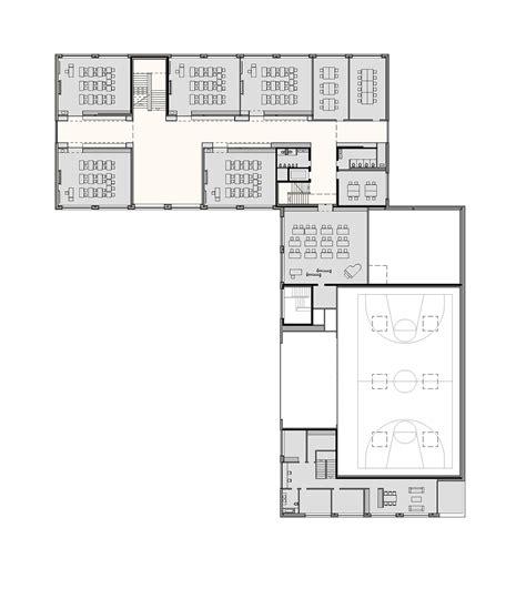 multi purpose hall floor plan gallery of multipurpose sports hall and secondary school