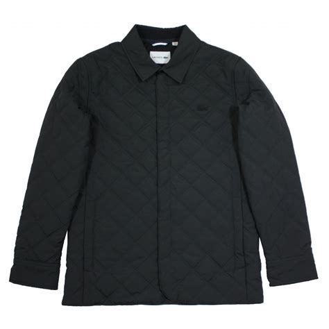 lacoste quilted jacket gibbs menswear