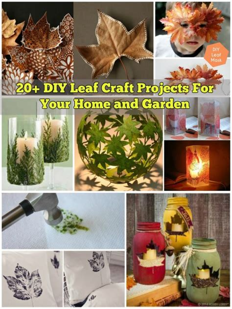 diy home and garden crafts 20 diy leaf craft projects for your home and garden