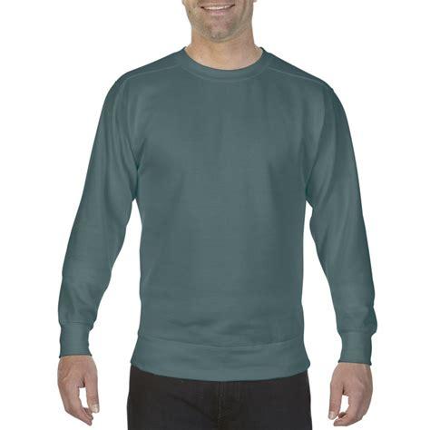 comfort colors blue spruce cc1566 comfort colors crewneck sweatshirt blue
