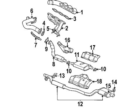 2004 chrysler pacifica exhaust system diagram parts 174 chrysler pacifica exhaust components oem parts