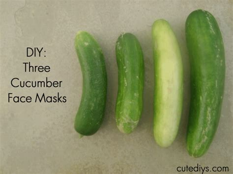 cucumber mask diy diy 3 cucumber masks cutediys