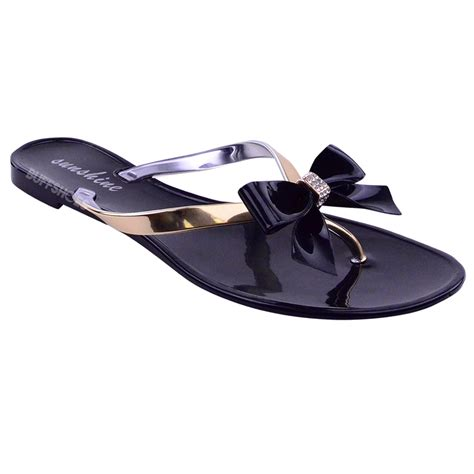 new jelly sandals shoes flat summer flip