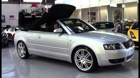 audi   cabriolet silver  sn youtube