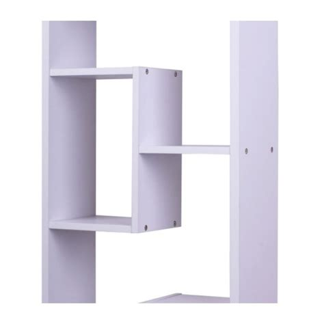 asymmetrical cube bookcase with shelves wooden asymmetrical cube bookcase white