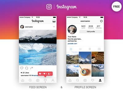 instagram get layout not working instagram feed profile screen free ai by marina dribbble