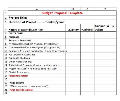 sample budget proposal templates  google docs