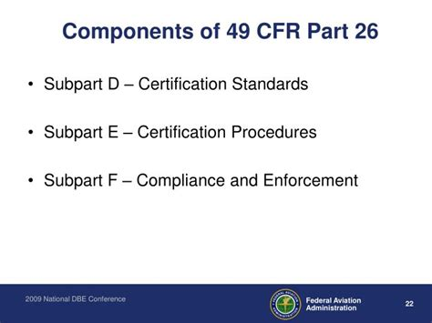Which Section Of 49 Cfr Provides Information About Requirements by Ppt 49 Cfr Part 26 Dbe Overview Powerpoint Presentation