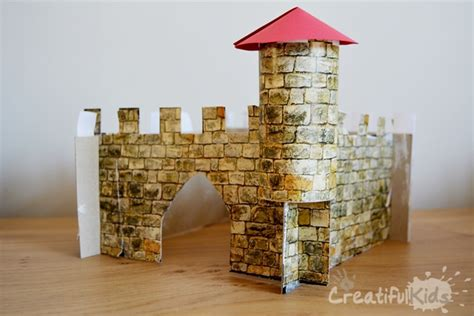 How To Make A Castle Out Of Cardboard And Paper - easy crafts with how to make a castle