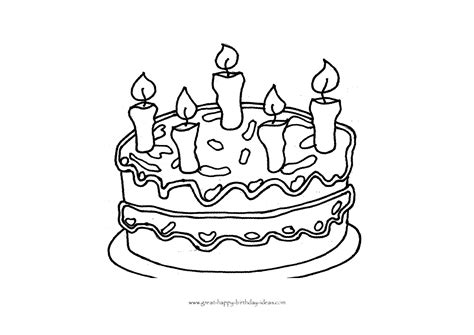 birthday coloring page printable birthday coloring pages