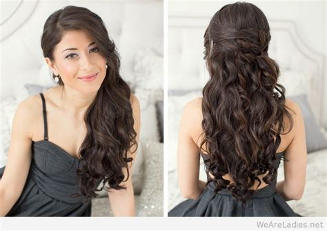 evening hairstyles for long straight hair best hairstyles proposal for women 2015
