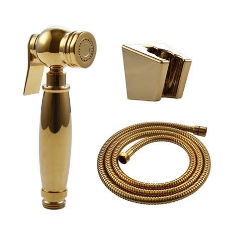 Tatay Selang Shower Brass 2 M gold toilet held brass bidet shattaf cloth sprayer shower with 1 5m hose and
