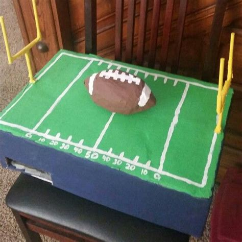 How To Make A Paper Mache Football - football field box made out of paper mache