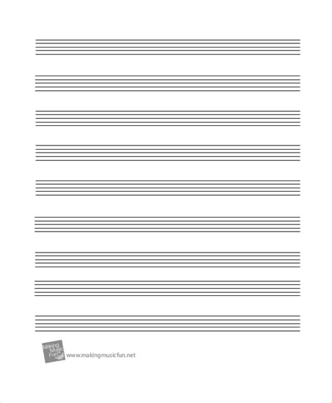 printable music staff paper blank printable staff paper 6 pdf documents download free