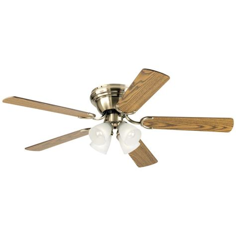 antique brass ceiling fan westinghouse aerialist 52 in polished nickel dc motor